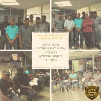 Staff from Grenada & St. Lucia (Amalgamated Security Services Limited) undergo ATM Training In Trinidad